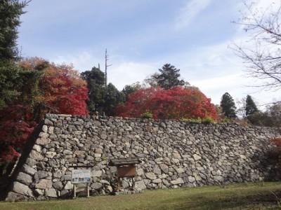 高取山 088・二の丸方向からの太鼓御櫓台と新御櫓台 (640x480)