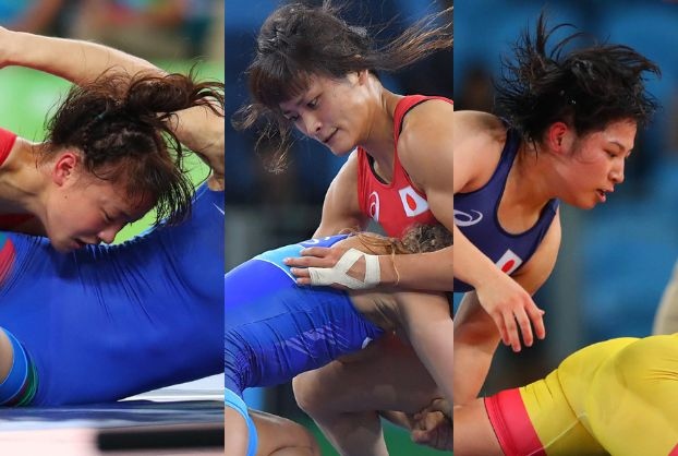 日本の女子レスリングで3人とも金メダル。 凄すぎる。 伊調は女子前人未踏の4連覇。