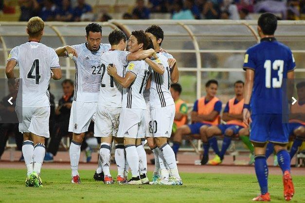 サッカー日本代表、タイに2-0で圧倒する。