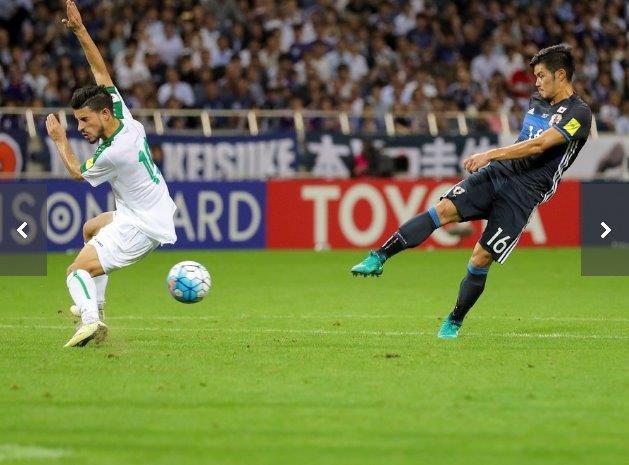 サッカーWC予選、日本はロスタイムの劇的弾でイラクを2-1で破る。