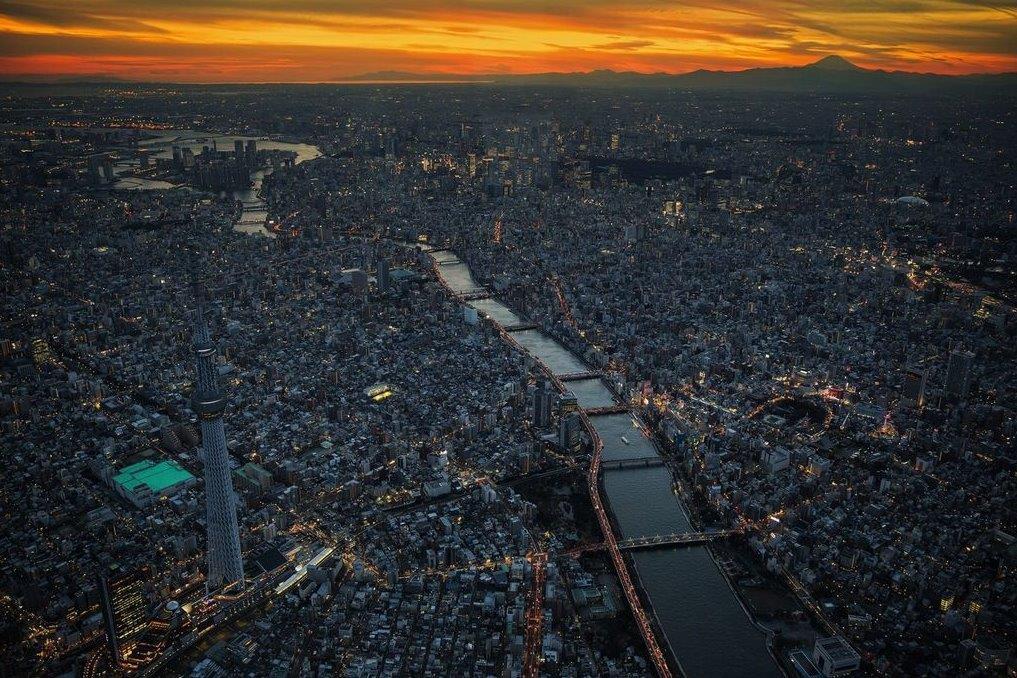 圧倒的すぎる東京の夕景。